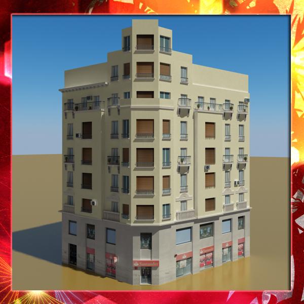 3d Model House Building Residential: Building 38 3D Model – Buy Building 38 3D Model