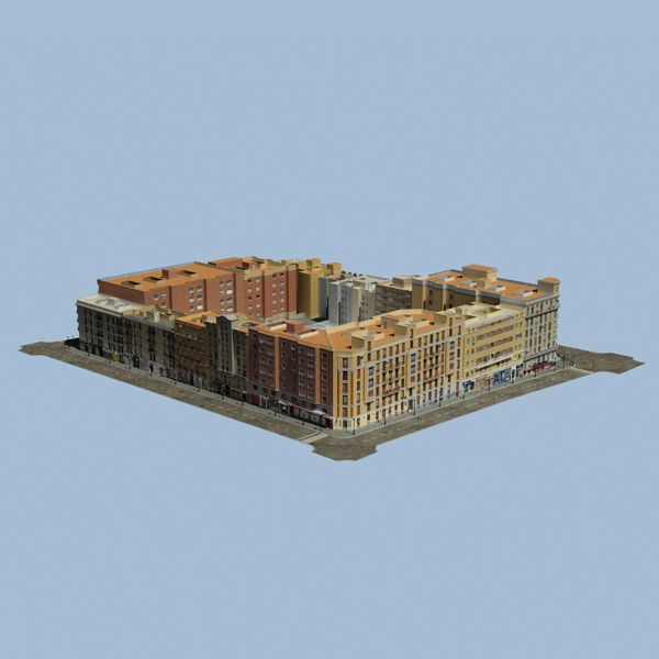 city block 05 3d model 3ds max fbx texture obj 158054