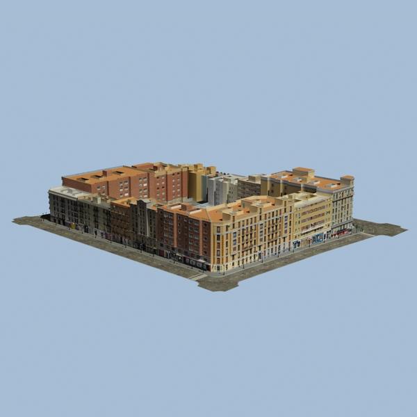 gradski blok 05 3d model 3ds max fbx texture obj 158054