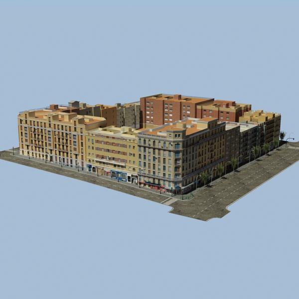 gradski blok 05 3d model 3ds max fbx texture obj 158055