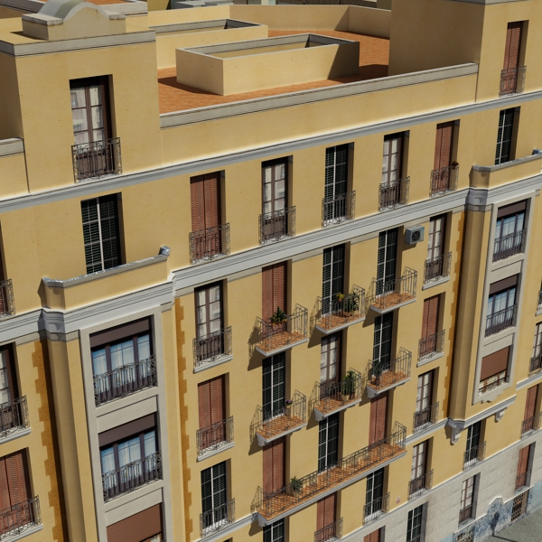 city block 05 3d model 3ds max fbx texture obj 158069