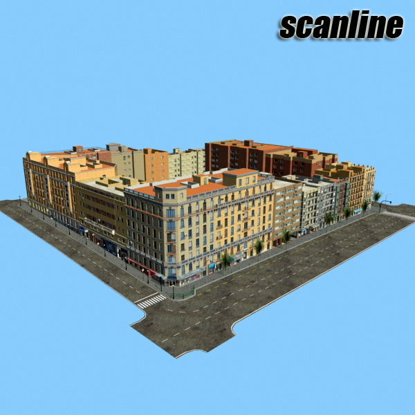 city block 05 3d model 3ds max fbx texture obj 158083
