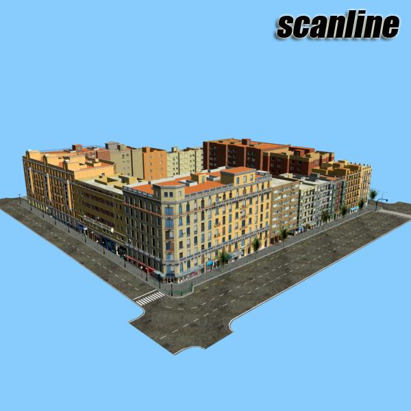 gradski blok 05 3d model 3ds max fbx texture obj 158083