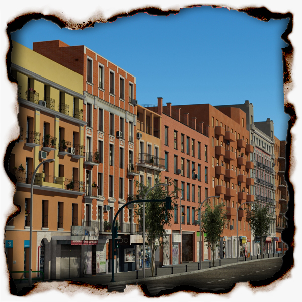 european city block 03 3d model 3ds max fbx texture obj 154794