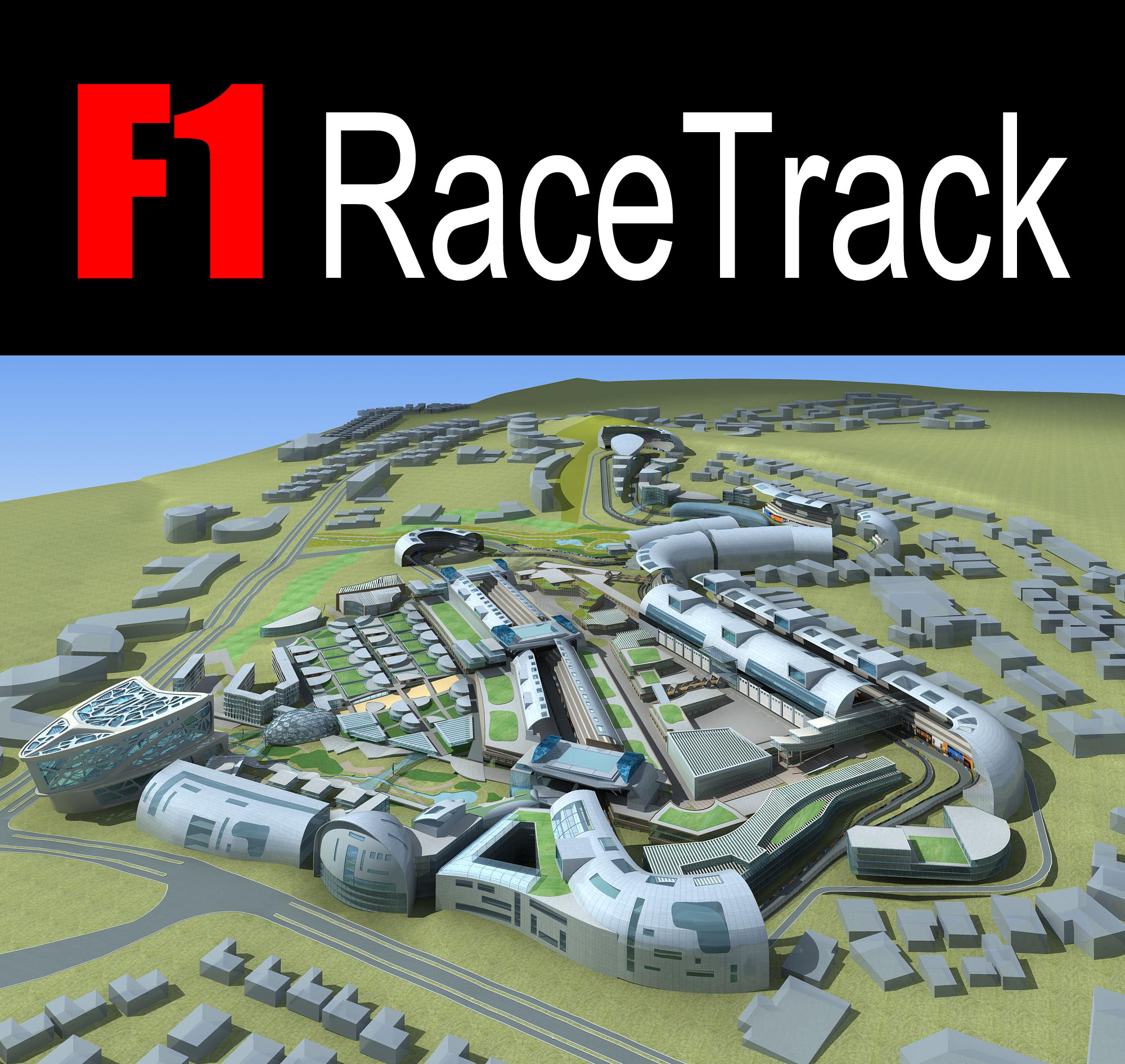 f1 racetrack 01 3d model 98206