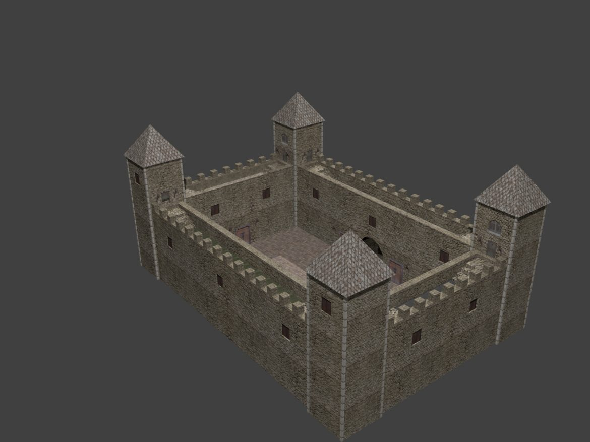 fortress low poly 3d model 3ds 164098