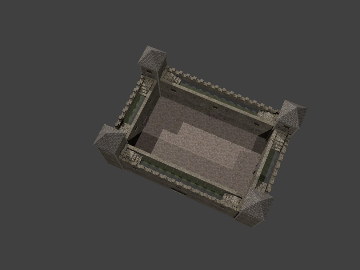 fortress low poly 3d model 3ds 164101