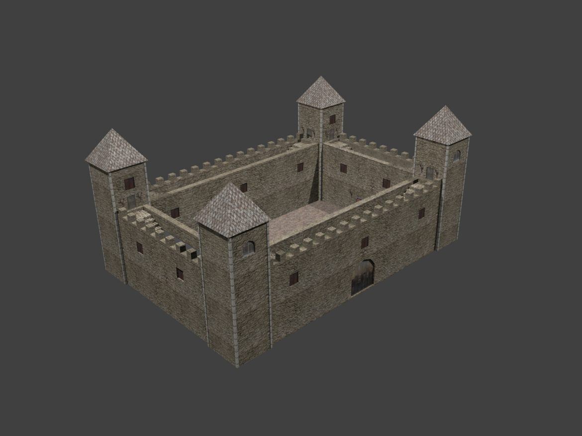 Fortress low poly ( 434.99KB jpg by gorandodic )