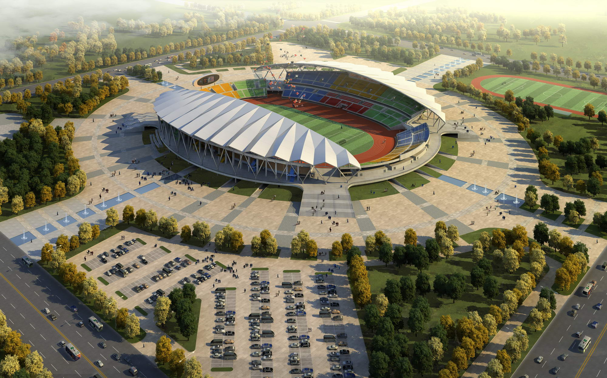 grand stadium 001 3d model 3ds max psd obj 98288