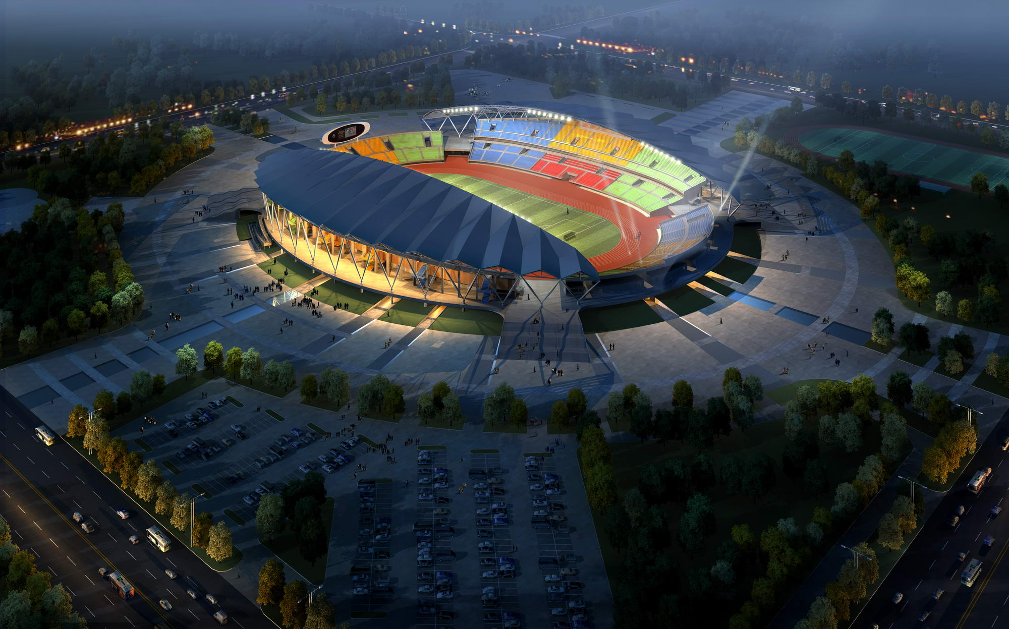grand stadium 001 3d model 3ds max psd obj 98290