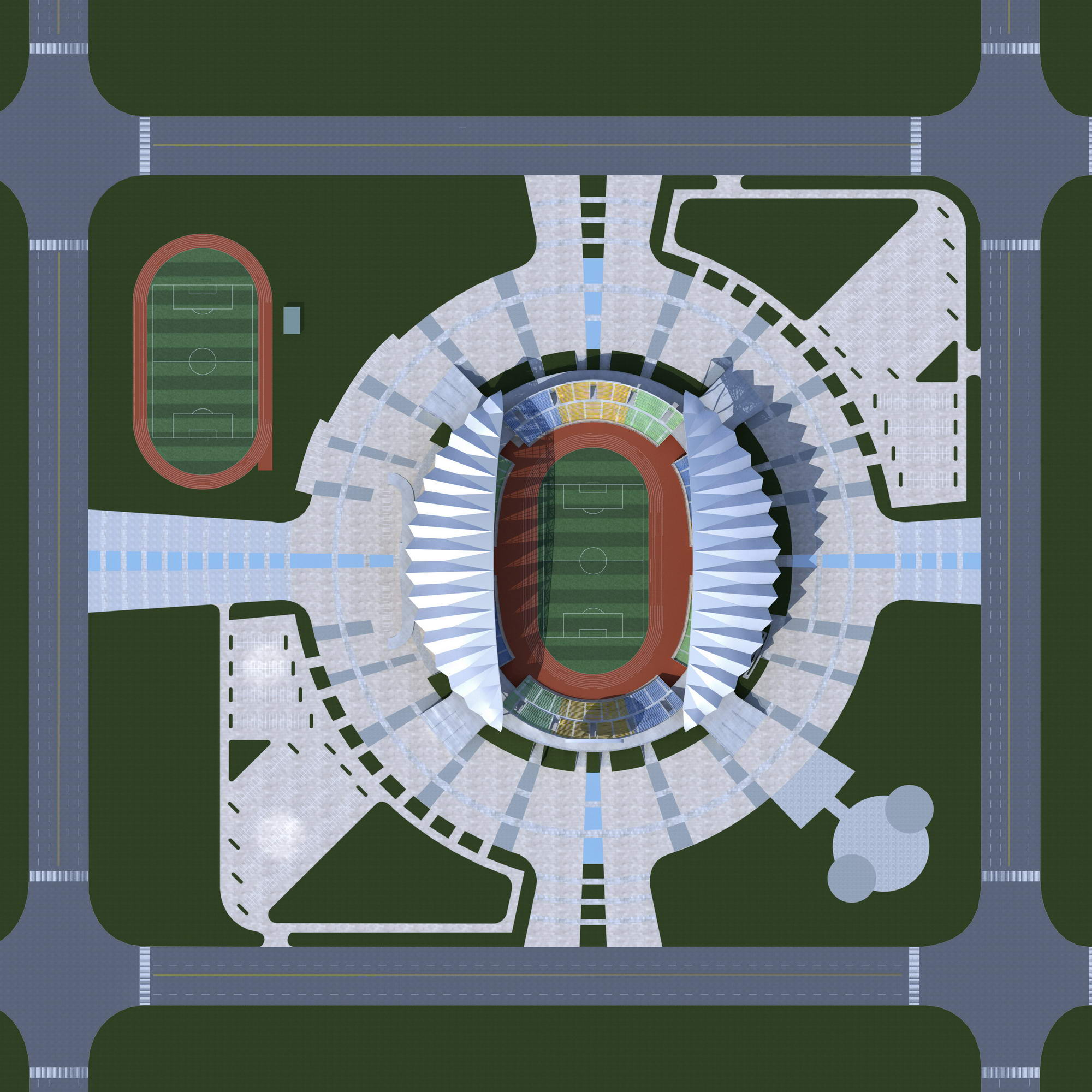 grand stadium 001 3d model 3ds max psd obj 98291
