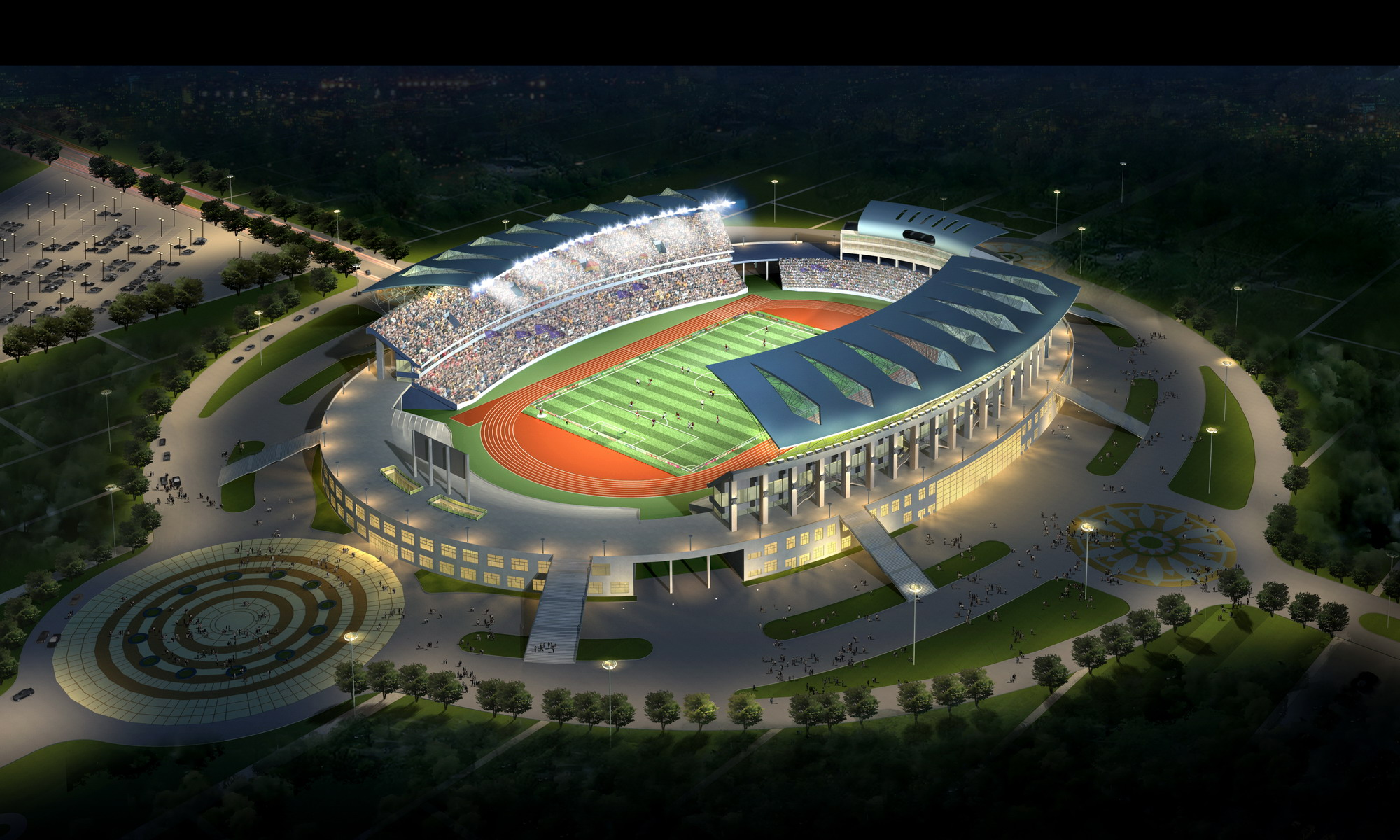 grand stadium 003 3d model max psd obj 98284