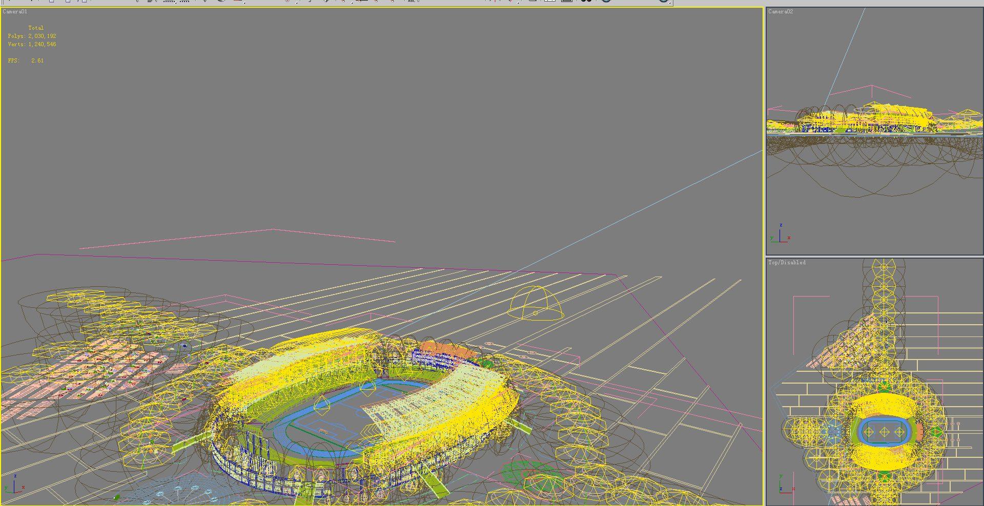 grand stadium 003 3d model max psd obj 98286