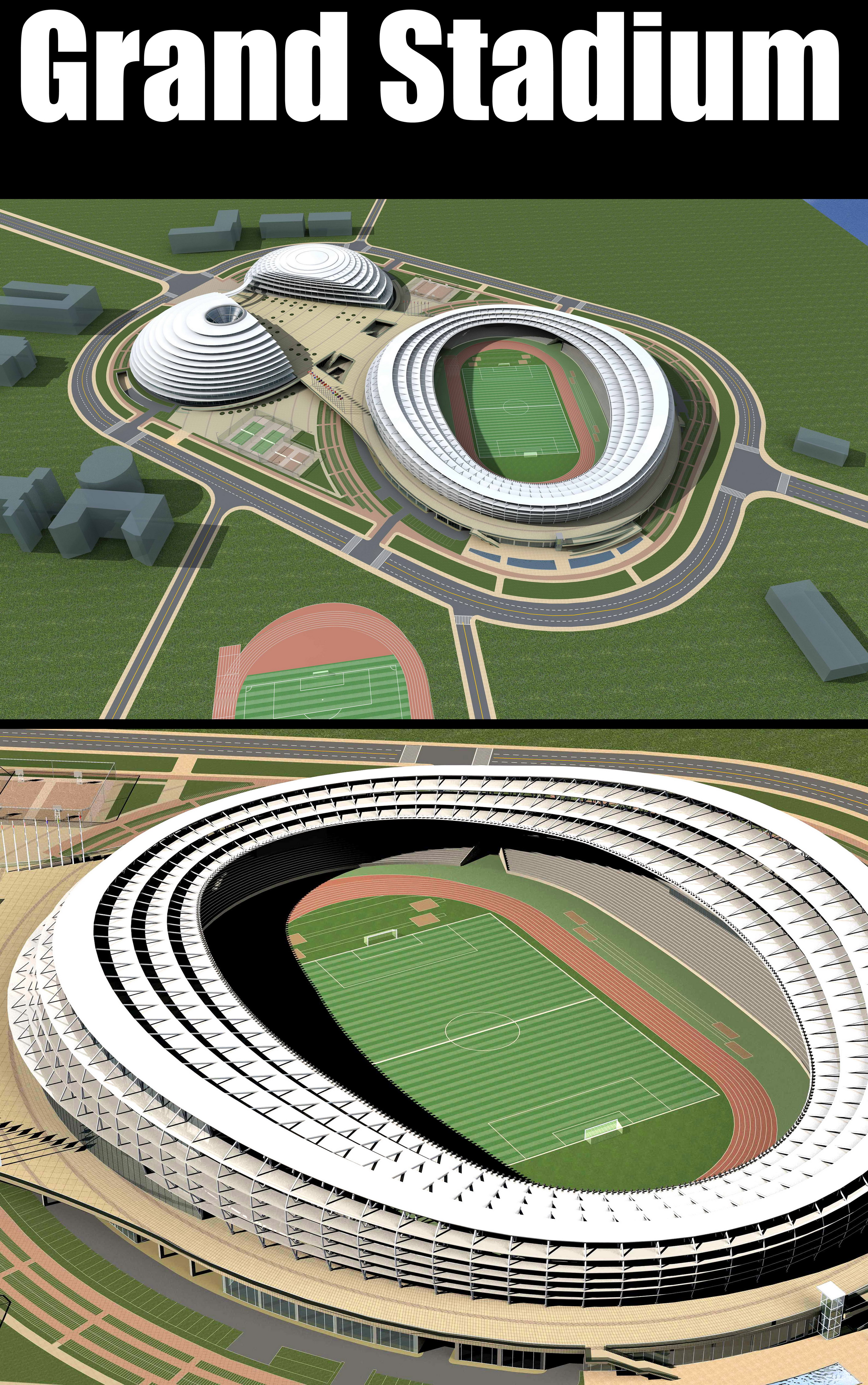 gran estadi 006 3d model 3ds max obj 98279