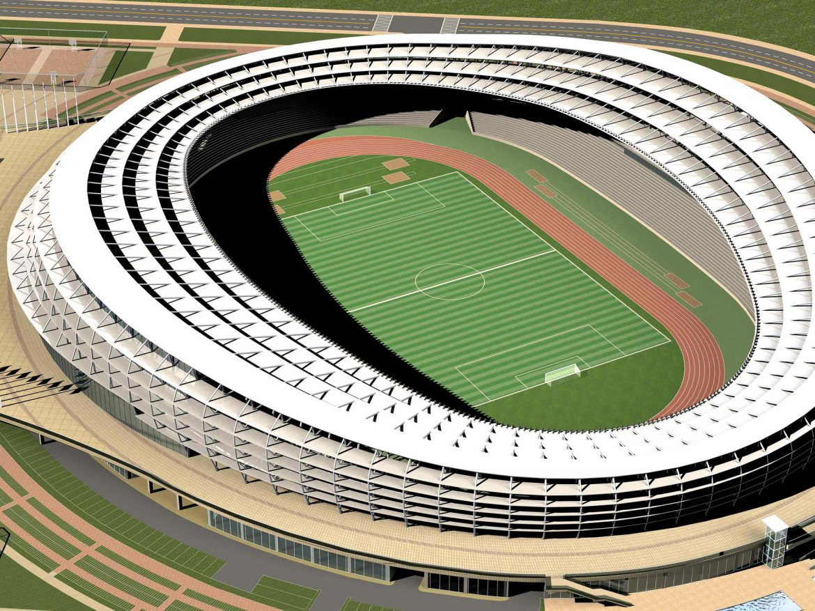 grand stadium 006 3d model 3ds max obj 98280