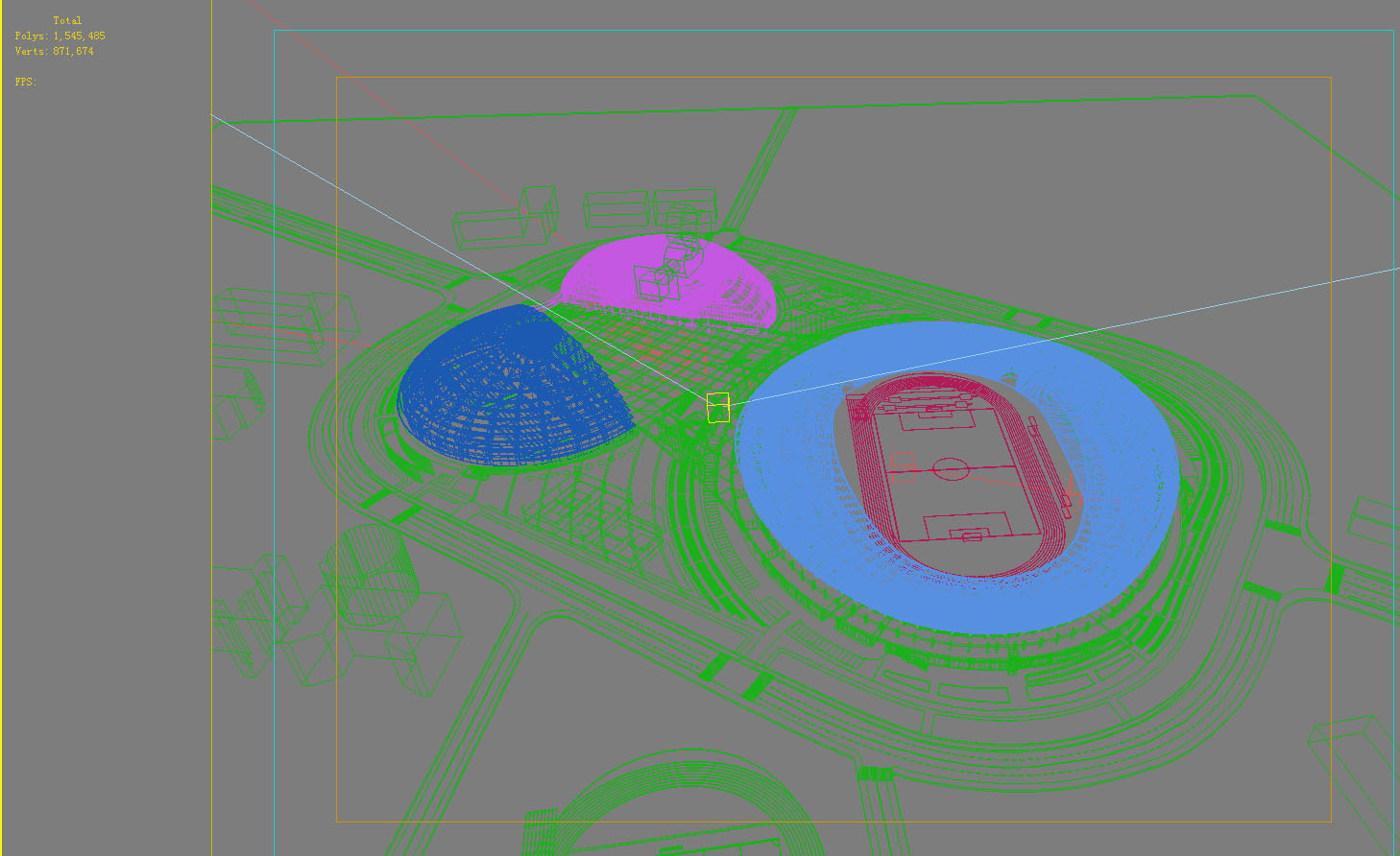 grand stadium 006 3d model 3ds max obj 98283