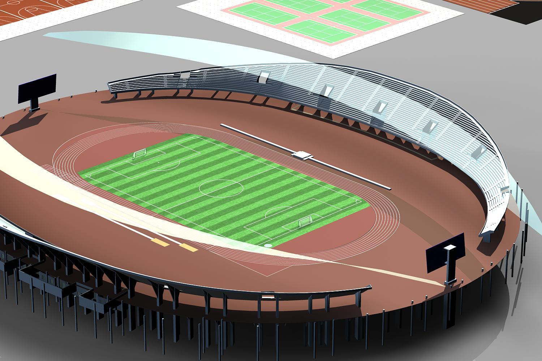 grand stadium 007 3d model 3ds max obj 98277