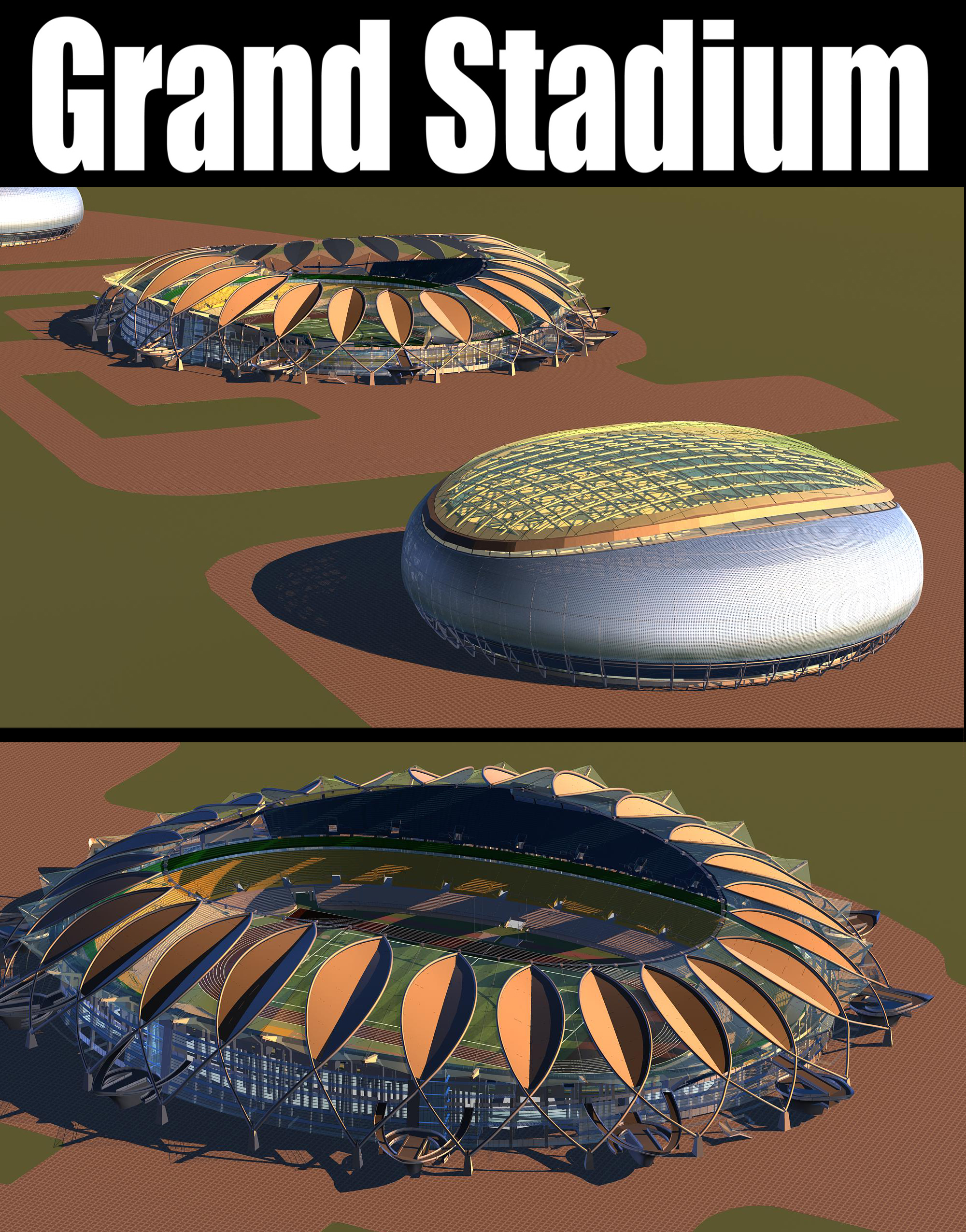 Grand Stadium 008 3d líkan 3ds max 98265