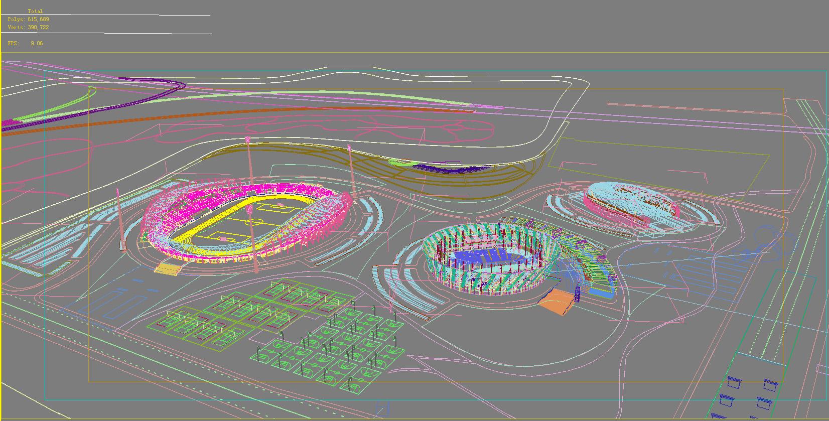 grand stadium 009 3d model 3ds max psd obj 98274