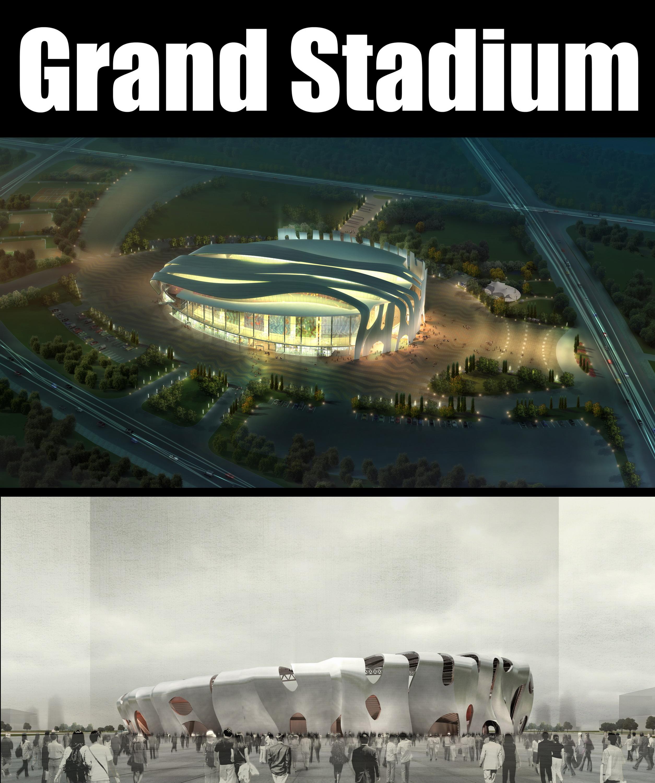 Grand Stadium 010 3d líkan 3ds psd obj 98211