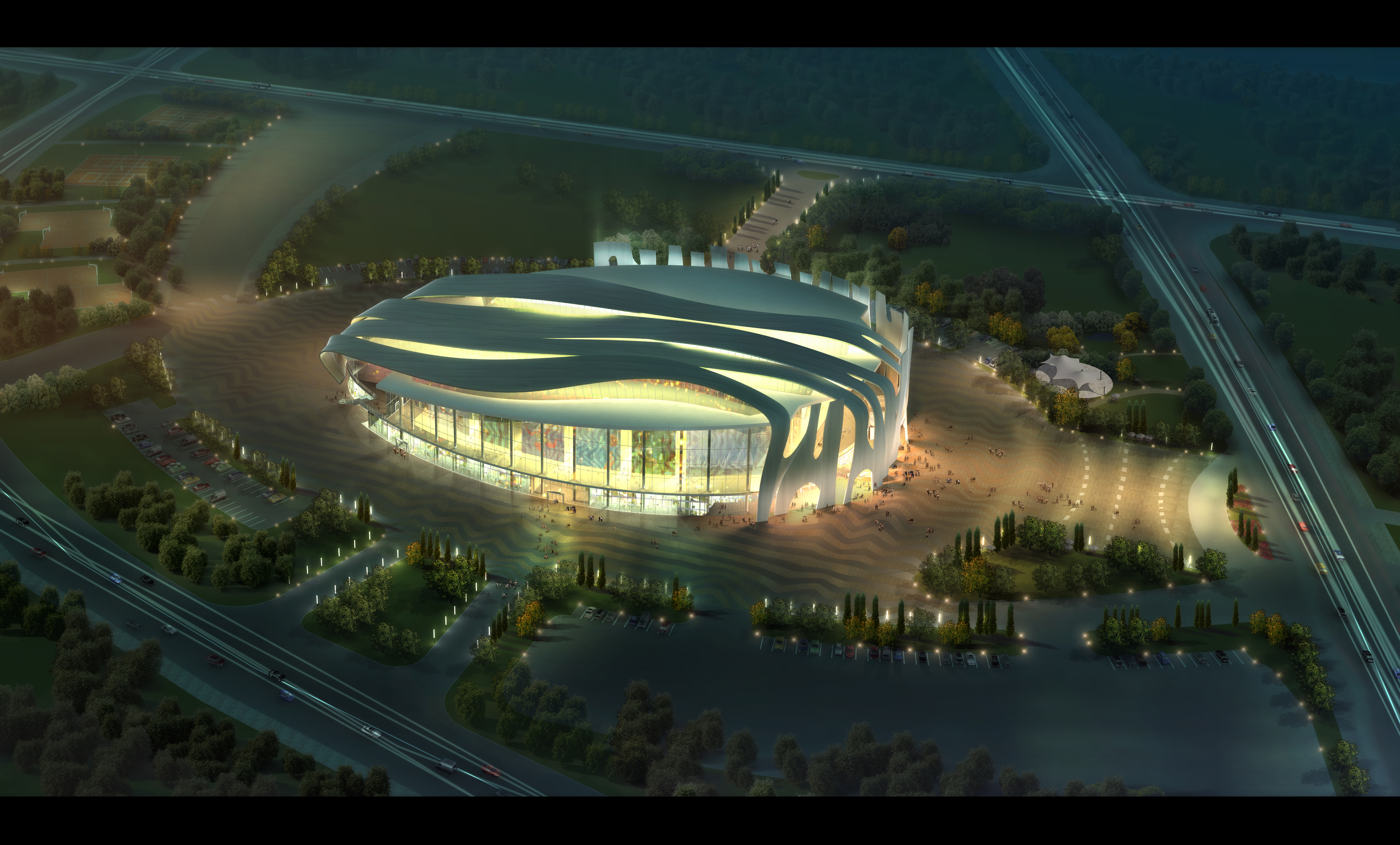 Grand Stadium 010 3d líkan 3ds psd obj 98214