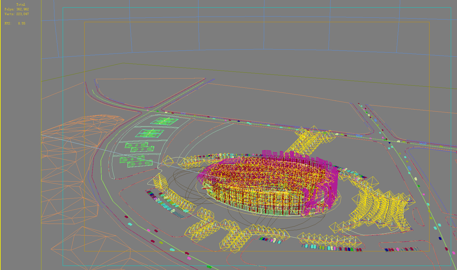 grand stadium 010 3d model 3ds psd obj 98215