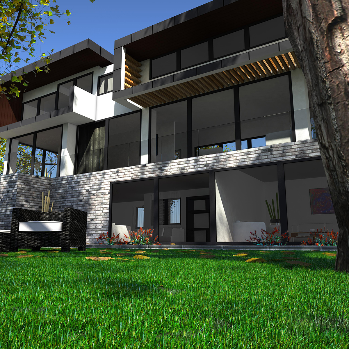 luxurious house 3d model fbx c4d ma mb other obj 164595