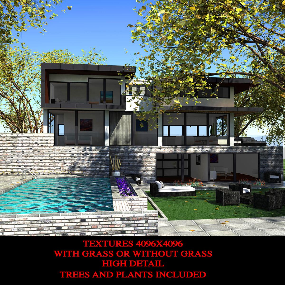 luxurious house 3d model fbx c4d ma mb other obj 164596