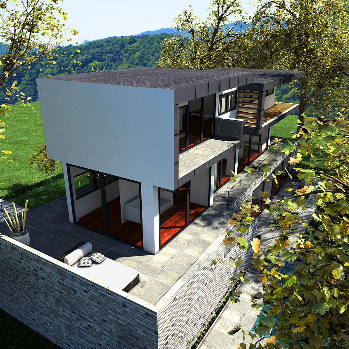 luxurious house 3d model fbx c4d ma mb other obj 164597