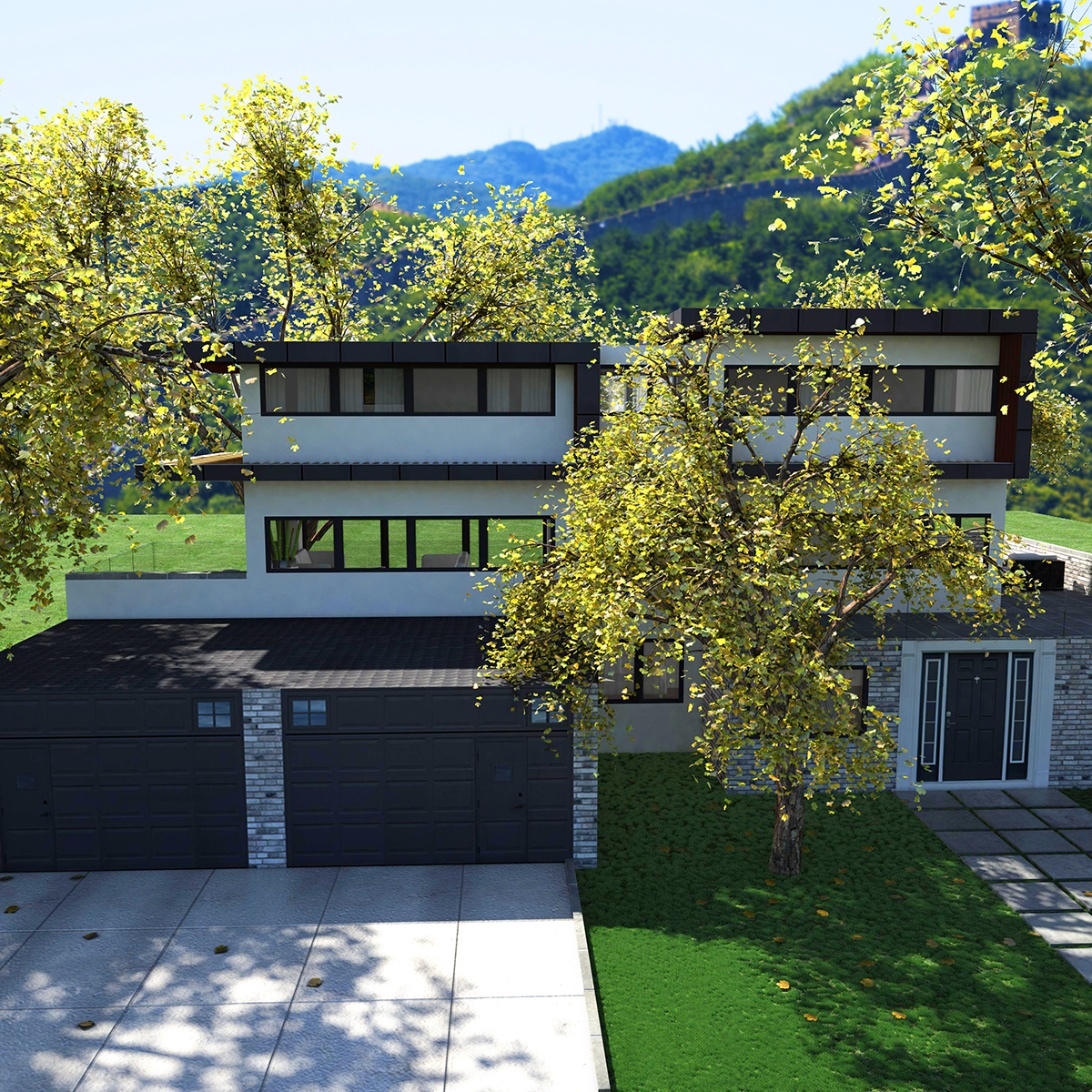luxurious house 3d model fbx c4d ma mb other obj 164598