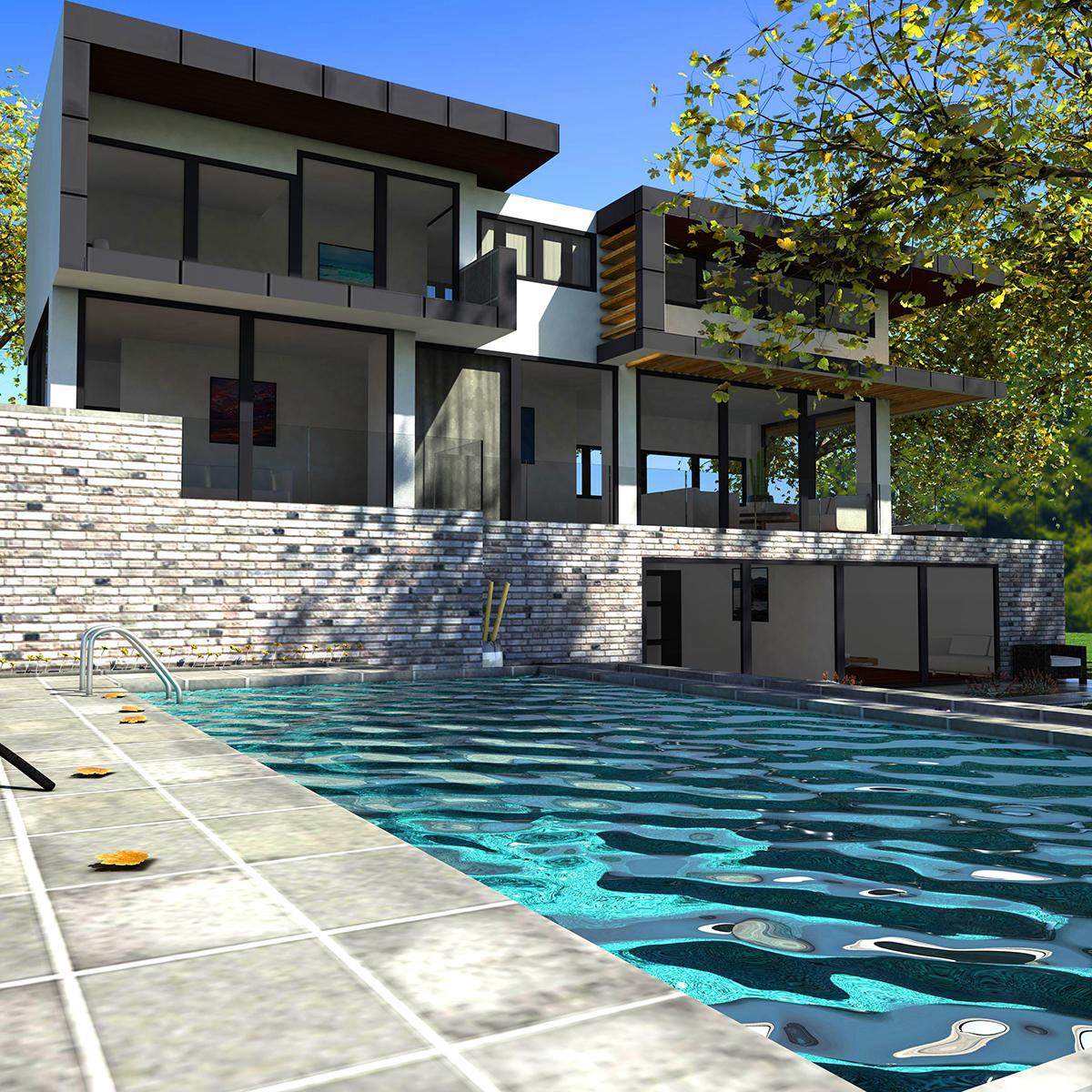 luxurious house 3d model fbx c4d ma mb other obj 164600