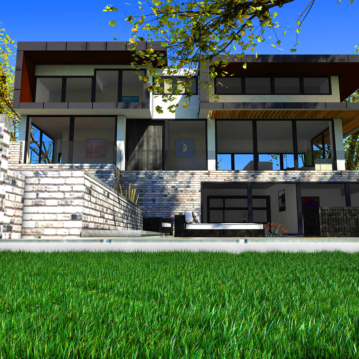 luxurious house 3d model fbx c4d ma mb other obj 164601