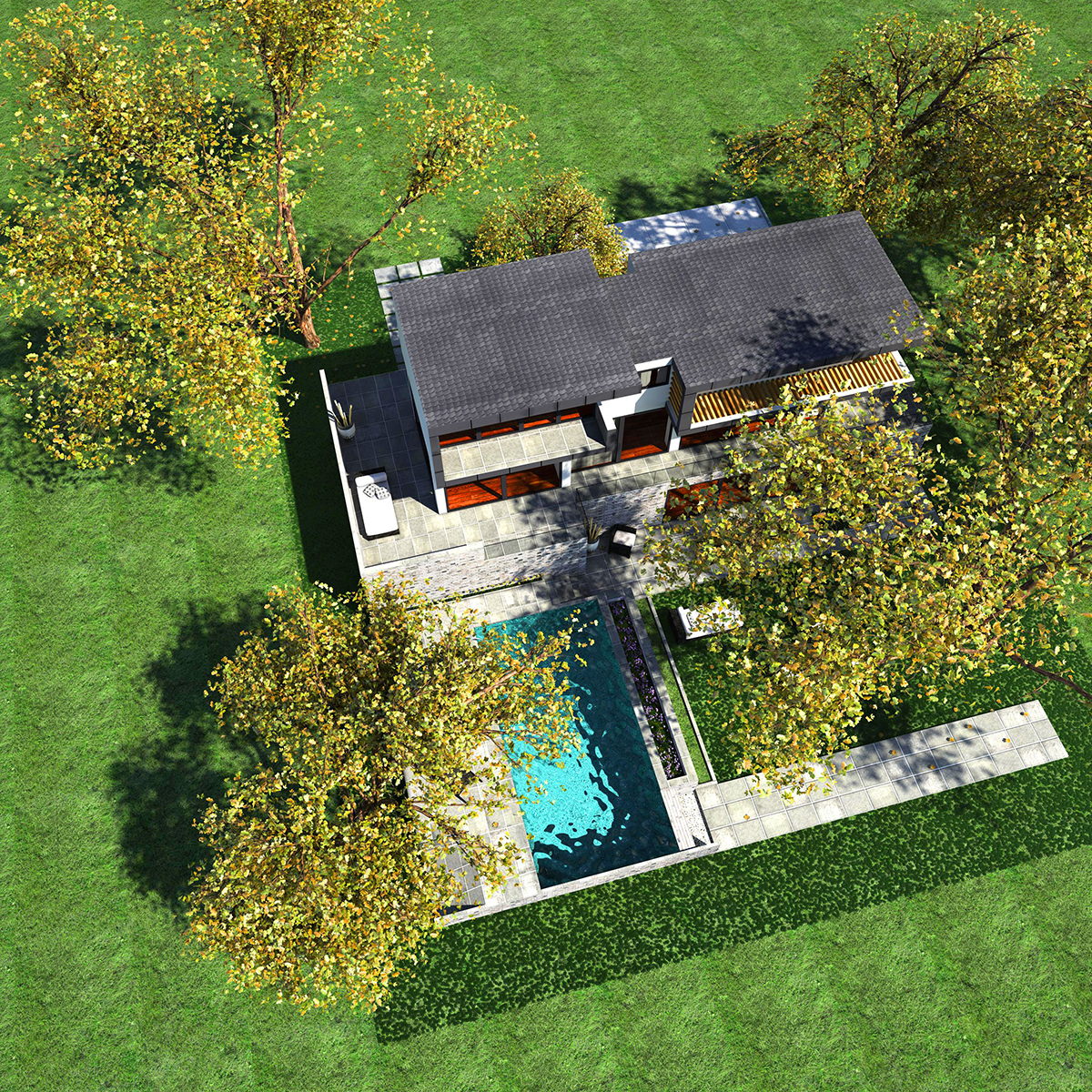 luxurious house 3d model fbx c4d ma mb other obj 164604