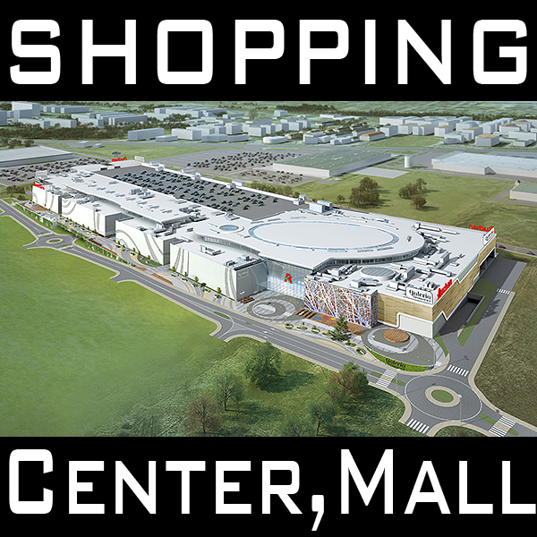 mall, shopping center, retail store 3d model 3ds max dxf dwg fbx c4d dae jpeg jpg lwo ma mb 3dm skp hrc xsi  obj 151372