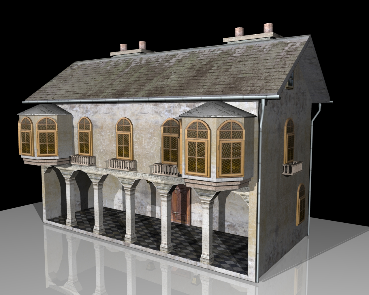 old house two 3d model 3ds 164104