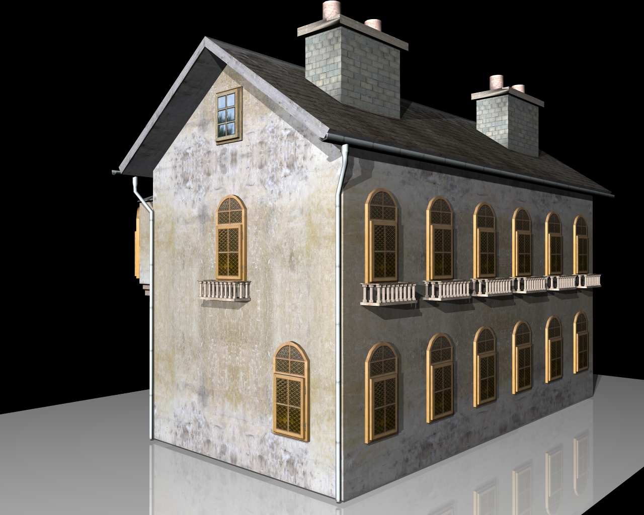 old house two 3d model 3ds 164105