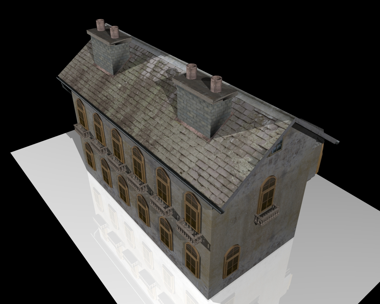 old house two 3d model 3ds 164107