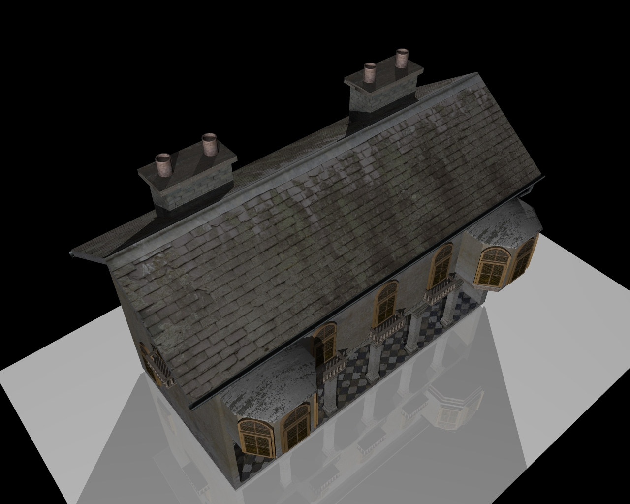 old house two 3d model 3ds 164108