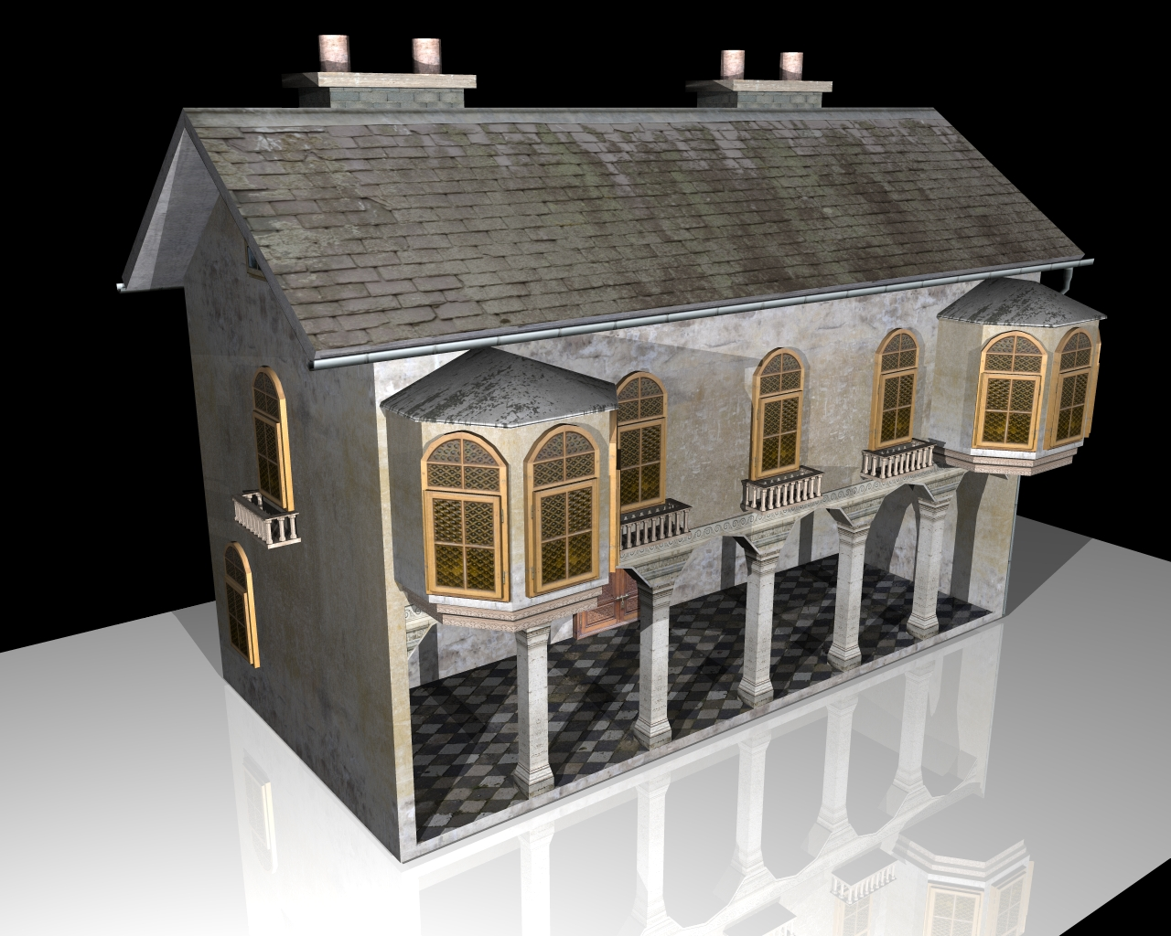 Wonderful Old House 3d Model 3ds 164102