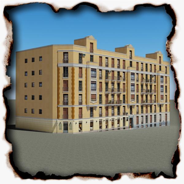 photorealistic building 103-2 two 3d model 3ds max fbx texture obj 157939