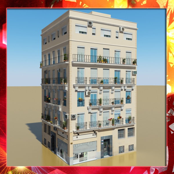 photorealistic low poly building 18 3d model 3ds max obj 149792