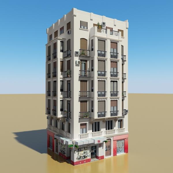 photorealistic low poly building 21 3d model 3ds max obj 149928