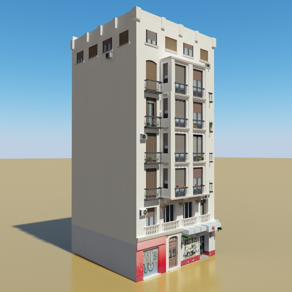 photorealistic low poly building 21 3d model 3ds max obj 149929