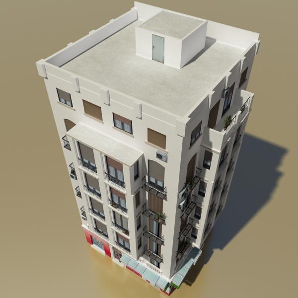 photorealistic low poly building 21 3d model 3ds max obj 149930