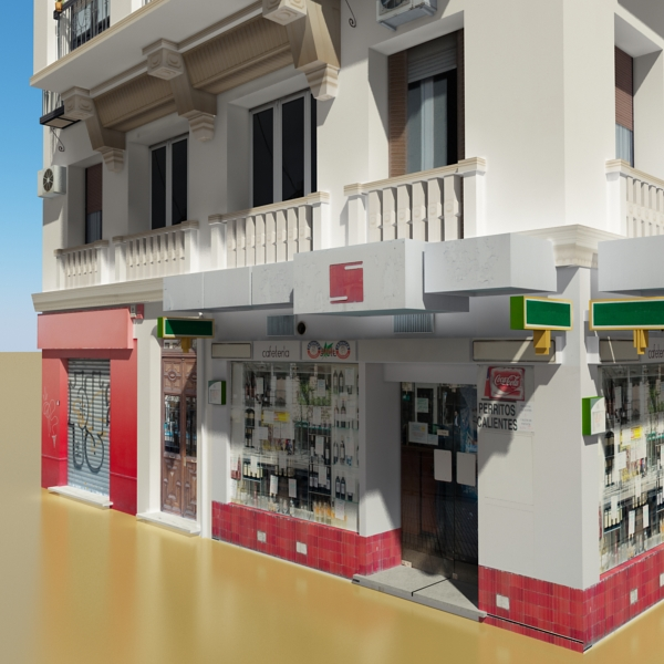photorealistic low poly building 21 3d model 3ds max obj 149931