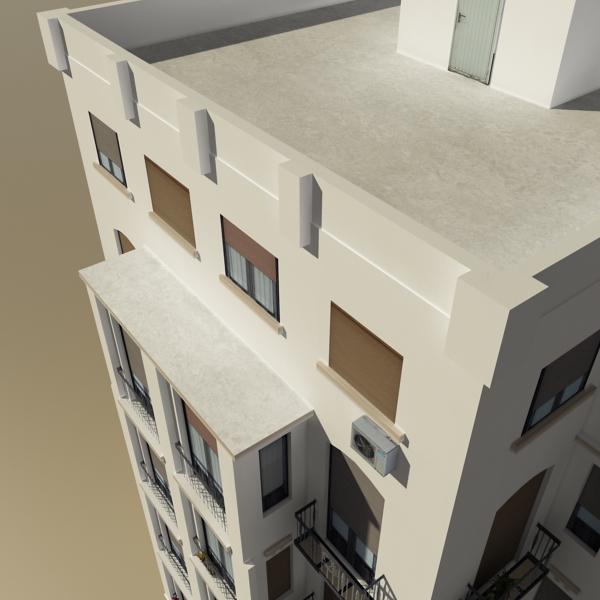 photorealistic low poly building 21 3d model 3ds max obj 149934