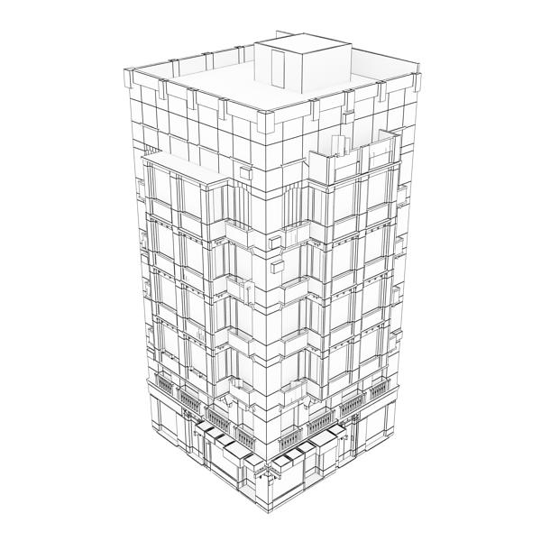 photorealistic low poly building 21 3d model 3ds max obj 149936