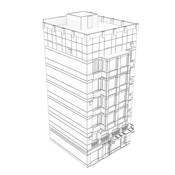 photorealistic low poly building 21 3d model 3ds max obj 149937