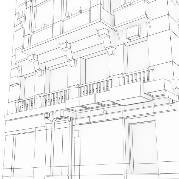 photorealistic low poly building 21 3d model 3ds max obj 149938