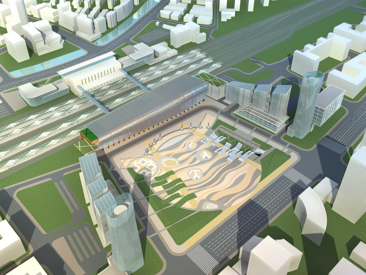 railway station 003 3d model 3ds 98204
